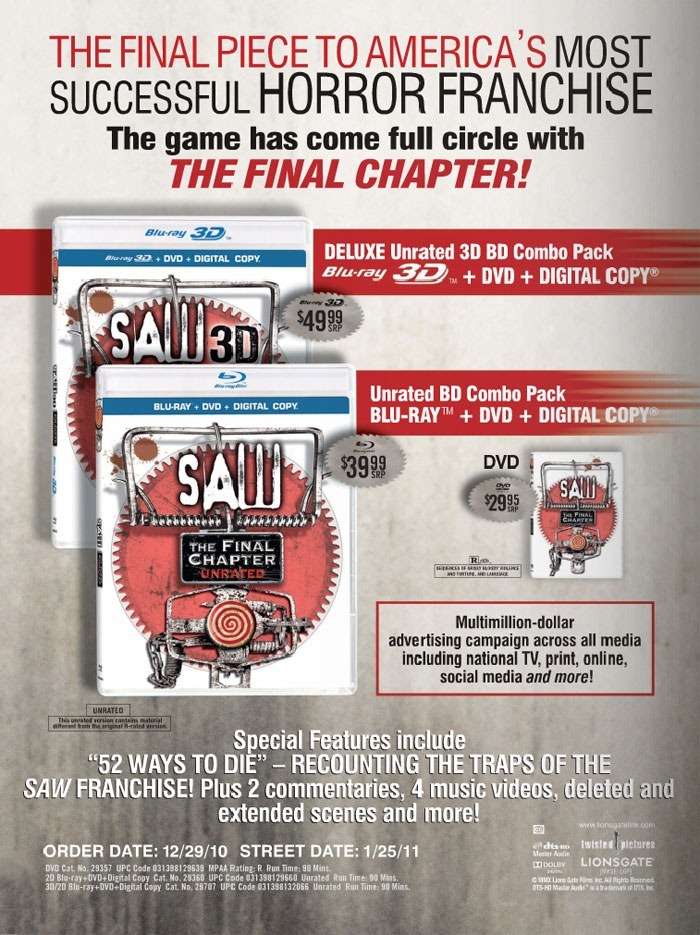 DVD Release: Saw 3D (Saw 7)