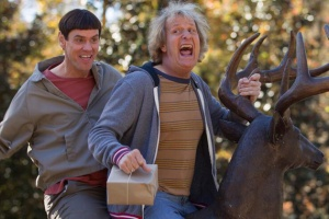 Harry Dunne (Jeff Daniels) and Lloyd Christmas (Jim Carrey) are back... and dumb as ever.