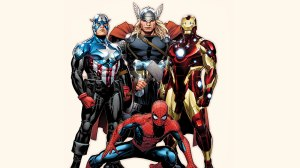 Avengers plus Spider-Man