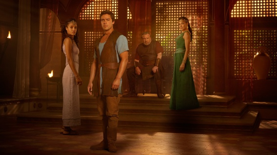 "OF KINGS AND PROPHETS – ""Of Kings and Prophets"" stars Ray Winstone as King Saul, Haaz Sleiman as Jonathan, Maisie Richardson-Sellers as Michal, Oliver Rix as David, Simone Kessell as Ahinoam, James Floyd as Ish-Boseth, Mohammad Bakri as Samuel and Tomer Kapon as Joab. (ABC/Bob D'Amico) MAISIE RICHARDSON-SELLERS, OLIVER RIX, RAY WINSTONE, SIMONE KESSELL"